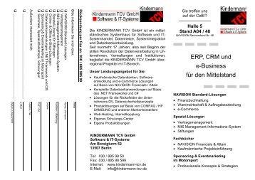 Halle 5 Stand A04 / 48 - KINDERMANN TCV