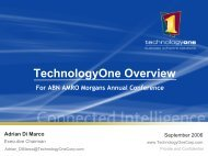 2006 Full Year Results - Technology One