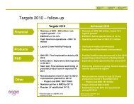 Targets 2010 – follow-up - ProInvestor