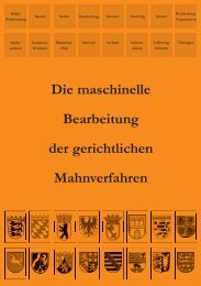 Die maschinelle Bearbeitung der gerichtlichen ... - mahngerichte.de