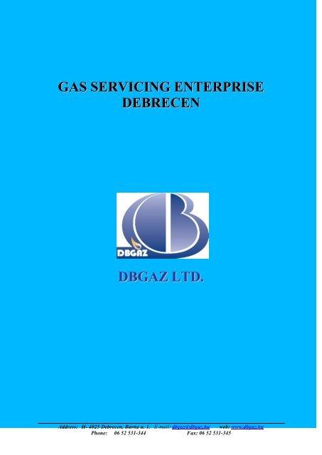 DBGAZ, Debrecen Gas Supply Limited Liability Company