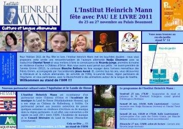 L'Institut Heinrich Mann fête avec PAU LE LIVRE 2011