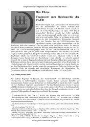 Fragmente zum Reichsarchiv der FAUD - Institut für ...