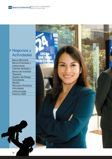 Negocios y Actividades - BBVA Banco Continental