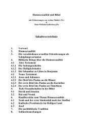 Homosexualität und Bibel - Regenbogen-NAK