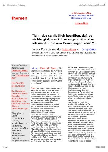 themen - u-lit Literatur Magazin
