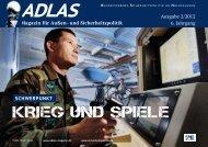 KRIEG UND SPIELE - Adlas – Magazin für Sicherheitspolitik