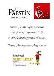 Finden Sie hier unsere Arrangements! (PDF) - Hotel Stadt Hameln