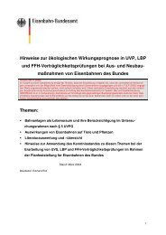 Hinweise zur ökologischen Wirkungsprognose in UVP, LBP und ...