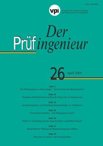 Prüfingenieur Ausgabe 26 - BVPI - Bundesvereinigung der ...