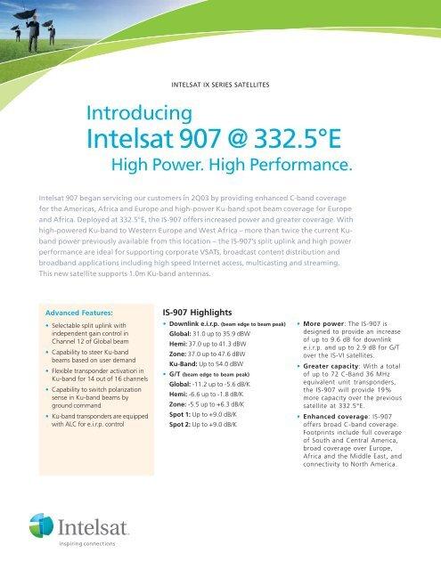 Intelsat 907 @ 332 5°E
