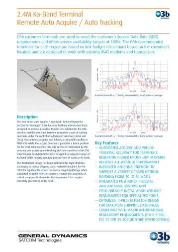 General Dynamics 2.4m Antenna - O3b Networks