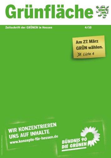 Kommunalwahl 2011 - Bündnis 90/Die Grünen Hessen