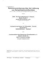 Nachtrag 2 zum Rehavertrag - AOK-Gesundheitspartner