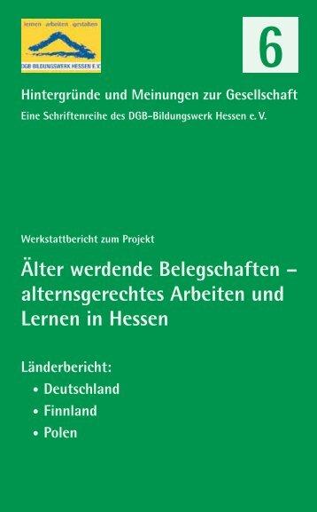 Älter werdende Belegschaften - DGB Bildungswerk Hessen eV
