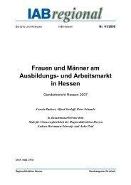 Frauen und Männer am Ausbildungs- und Arbeitsmarkt in Hessen