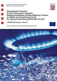 Operationelles Programm EFRE - Kultur- und Kreativwirtschaft in ...