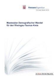 Masterplan Demografischer Wandel - Rheingau - Taunus - Kreis