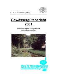 Gewässergütebericht 2001 - Stadt Lingen