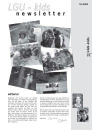 LGU - kids - Liechtensteinische Gesellschaft für Umweltschutz