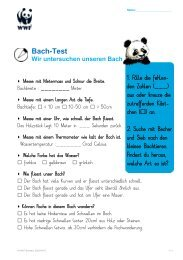 Bach-Test - WWF Schweiz