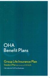 Group Life Insurance Plan - Ontario Hospital Association