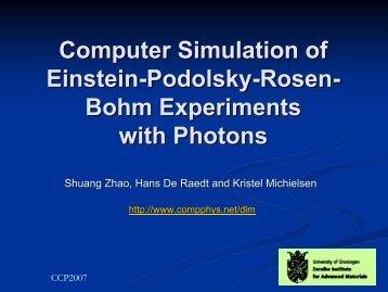 Computer Simulation of Einstein-Podolsky-Rosen- Bohm ...