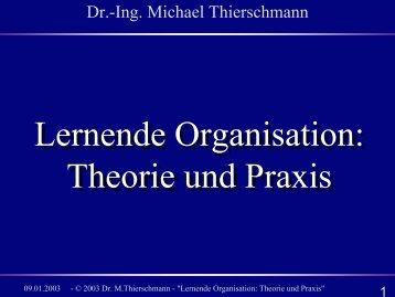 Lernende Organisation: Theorie und Praxis Lernende ... - brainGuide