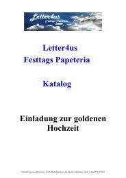 Letter4us Festtags Papeteria Katalog Einladung zur goldenen ...