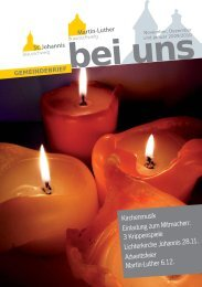 Kirchenmusik Einladung zum Mitmachen: 3 ... - in St. Johannis