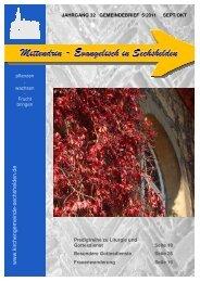 Gemeindebrief 2011 05 September Oktober - Kirchengemeinde ...