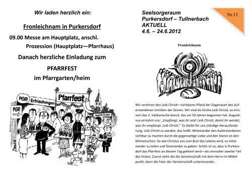 Fronleichnam in Purkersdorf Danach herzliche Einladung zum ...