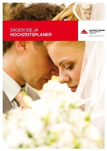 SAGEN SIE JA HOCHZEITSPLANER - Austria Trend Hotels & Resorts