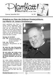 Einladung zur Feier des Goldenen Priesterjubiläums von Pfarrer i.R. ...
