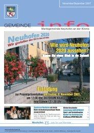Einladung Einladung Wie wird Neuhofen 2020 aussehen? Wie wird ...