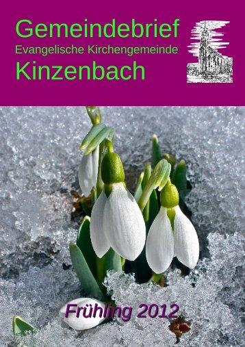 Frühling 2012 - Evangelische Kirchengemeinde Kinzenbach