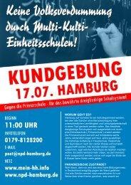 11:00 UHR - NPD Landesverband Hamburg