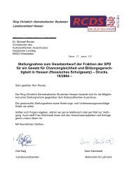 Stellungnahme zum Gesetzentwurf der Fraktion der ... - RCDS Hessen