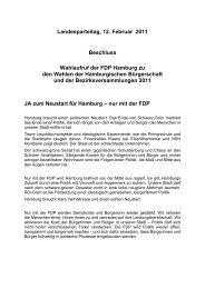 Landesparteitag, 12. Februar 2011 Beschluss ... - FDP Hamburg