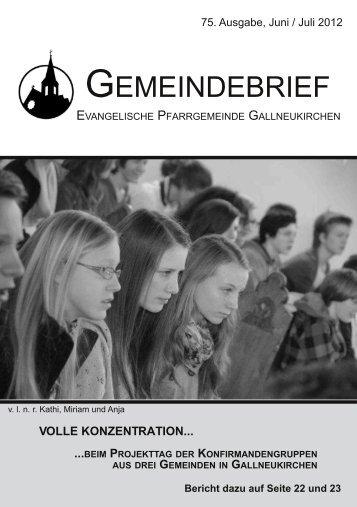 Juni/Juli 2012 - Evangelische Pfarrgemeinde Gallneukirchen