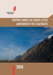 Rapport Gestion EtatVS - Etat du Valais