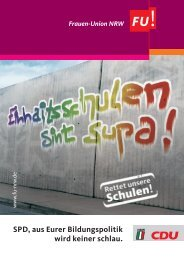 Flugbl_Rettet unsere Schulen - Frauen-Union der CDU-NRW