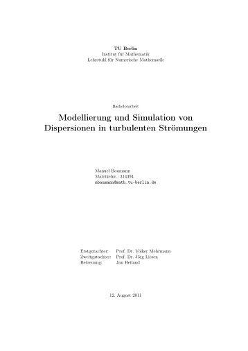 Modellierung und Simulation von Dispersionen in turbulenten ...