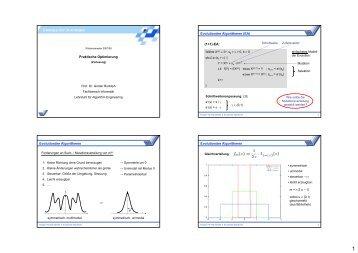 Praktische Optimierung Evolutionäre Algorithmen (EA) (1+1)-EA ...