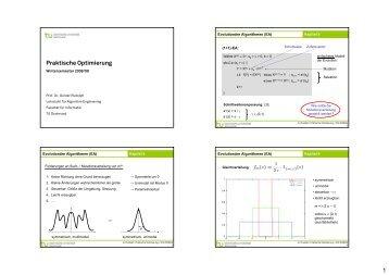 1 Praktische Optimierung - TU Dortmund