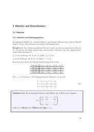 3 Matrizen und Determinanten