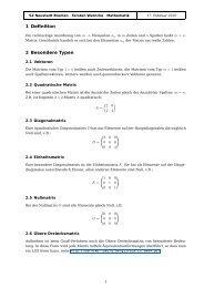 Lineares Gleichungssystem und Matrix - Warncke