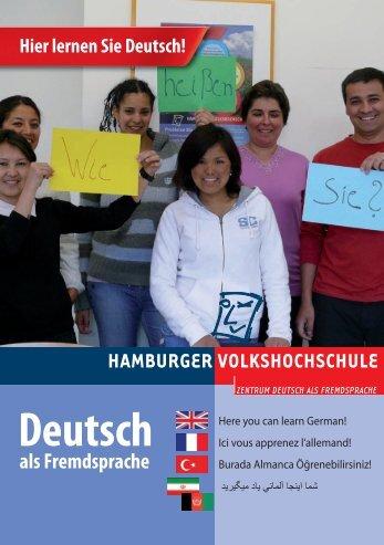 Deutsch als Fremdsprache - Hamburger Volkshochschule
