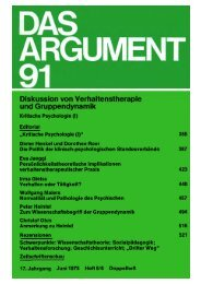 Das Argument 91 - Berliner Institut für kritische Theorie eV