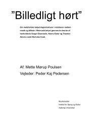 Teorier om audiovisuel betydning - Aalborg Universitet